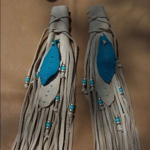 Deerskin Leather Handmade Hair Wraps